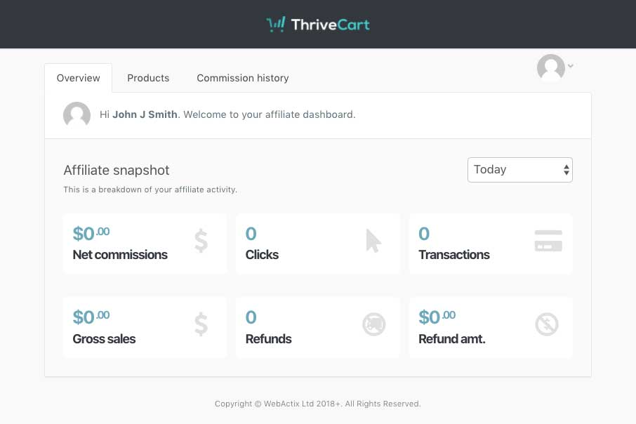 Thrivecart Affiliate Center